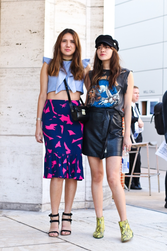 Natalie Off Duty and Dylana SuarezNew York Fashion Week Lincoln Center SS2015 Streetstyle Photography by Ryan Chua-0923