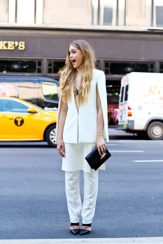 Kristina Bazan New York Fashion Week Lincoln Center SS2015 Streetstyle Photography by Ryan Chua-1124
