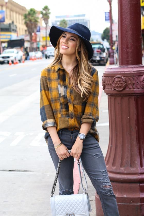 Ariana Lauren Fashion Born San Francisco Blogger Plaid Shirt Grey Jeans Photography by Ryan Chua