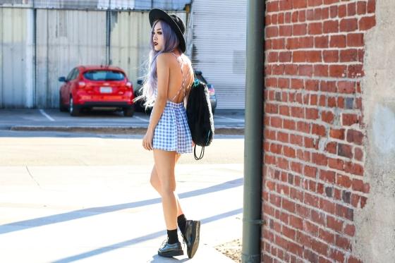 Ellen V Lora Rocafox Fashion Blogger Streetstyle Photography by Ryan Chua Shot in Los Angeles Arts District