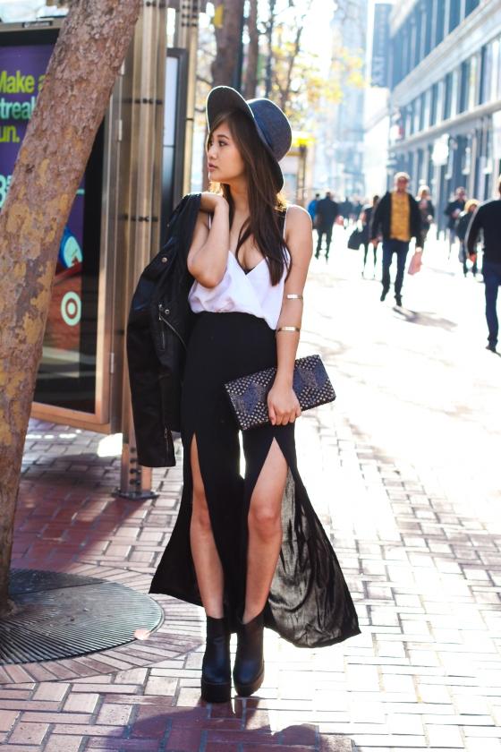 Julia Cheng of LifesJules Fashion Blog Shot in San Francisco's Financial District by Ryan Chua