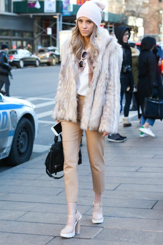 Megan Mitchell New York Fashion Week Feb 2015 Lincoln Center Streetstyle Photography by Ryan Chua