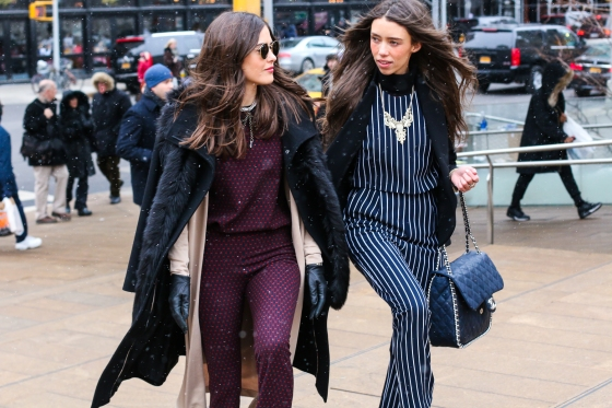 Paola Albertdi Blank Itinerary and Thania Peck Catcher in the Style New York Fashion Week Streetstyle Photography by Ryan Chua-9656