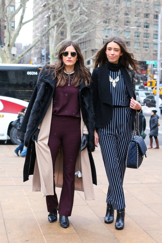 Paola Albertdi Blank Itinerary and Thania Peck Catcher in the Style New York Fashion Week Streetstyle Photography by Ryan Chua-9672