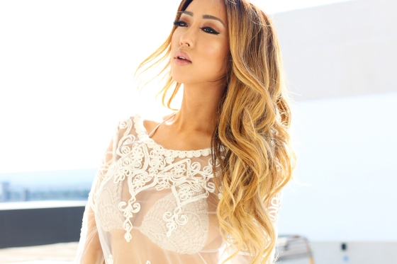 Arika Sato White Lace Coverup--2