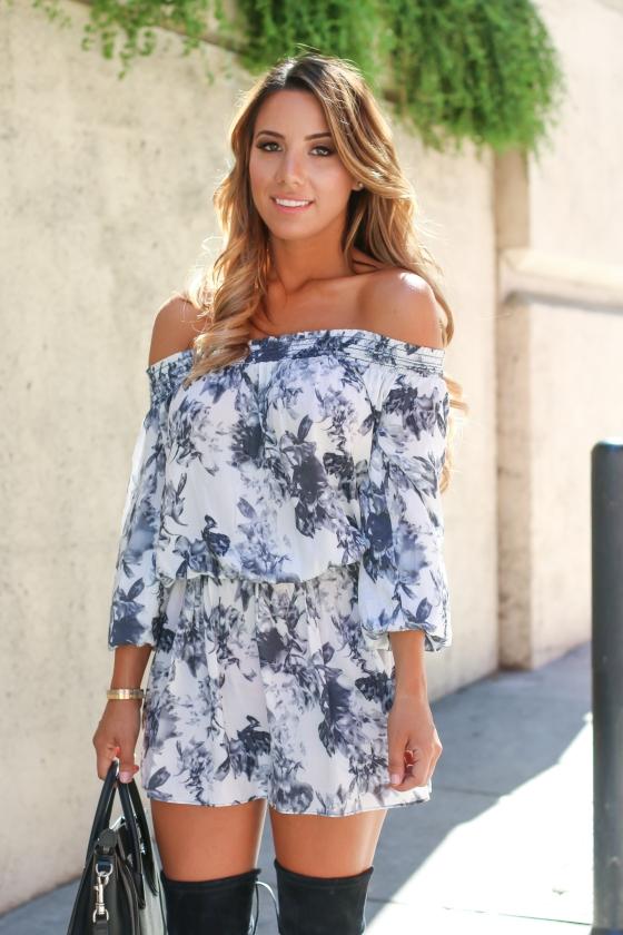 Ariana Lauren Floral Romper-0618