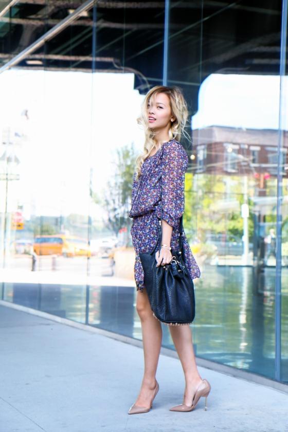 Lina Dinh LoveBetweentheRacks NYFW Streetstyle Photography by Ryan Chua ShopStyle Joie dress Alexander Wang bag-6662