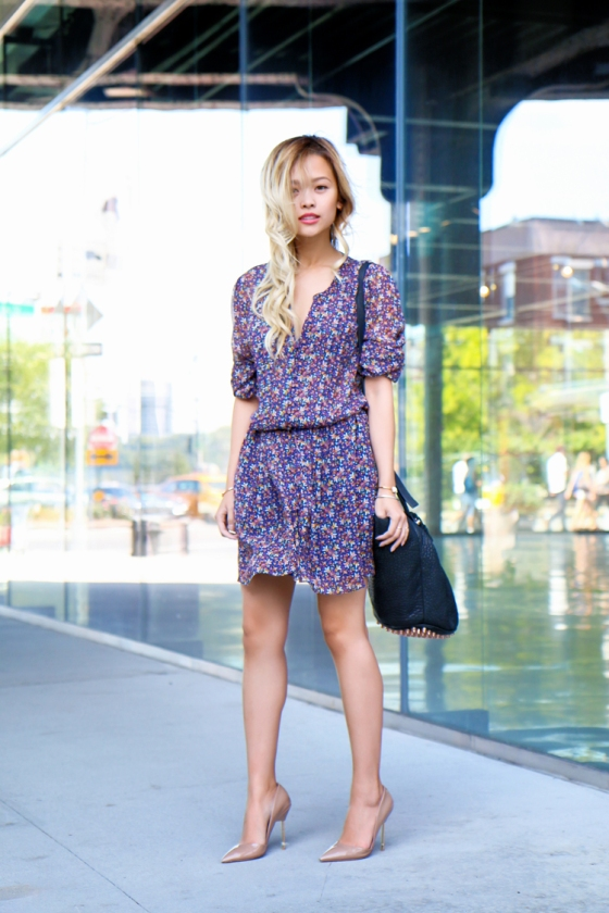 Lina Dinh LoveBetweentheRacks NYFW Streetstyle Photography by Ryan Chua Shopstyle Joie dress Alexander Wang bag-6677